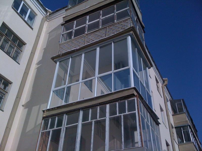Остекление балкона с крышей сис-мы provedal, раздвижной меха.